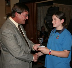 Michaelson Cup presented to Liphook District Guides and Brownies